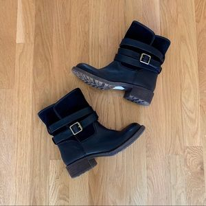 NEW Lucky Brand Declan Sherpa-lines Buckle Boots